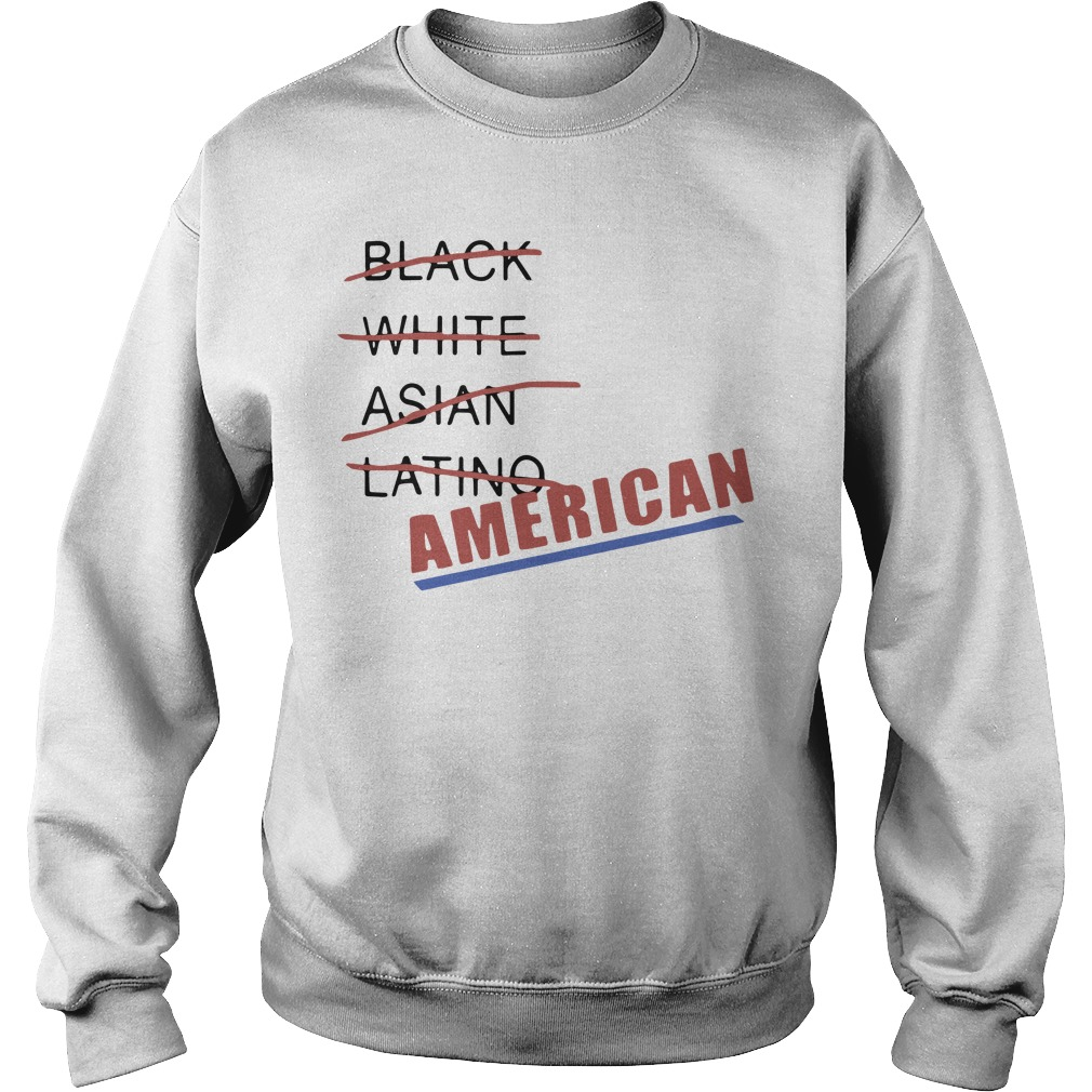 Black White Asian Latino American Sweater