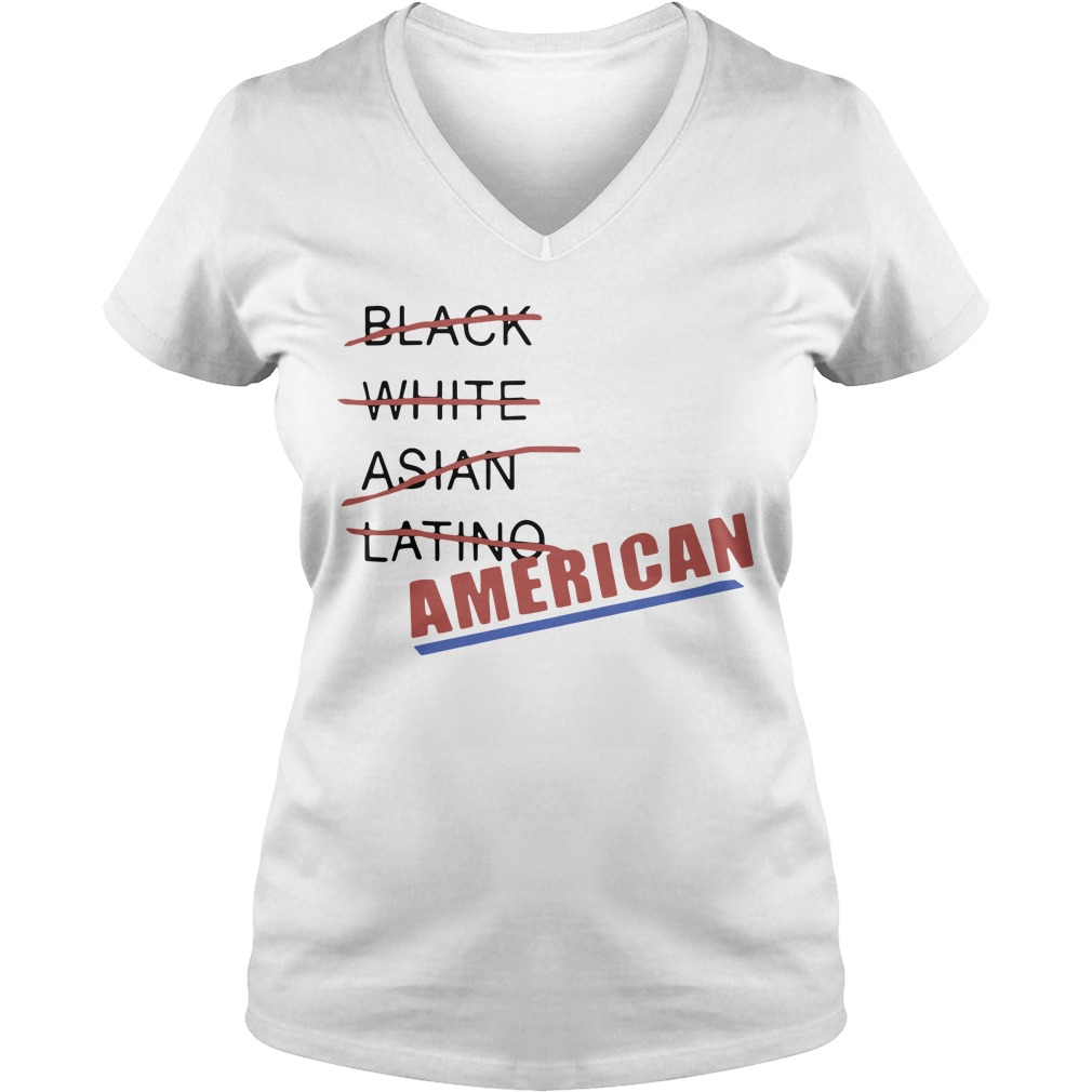 Black White Asian Latino American V-neck T-shirt