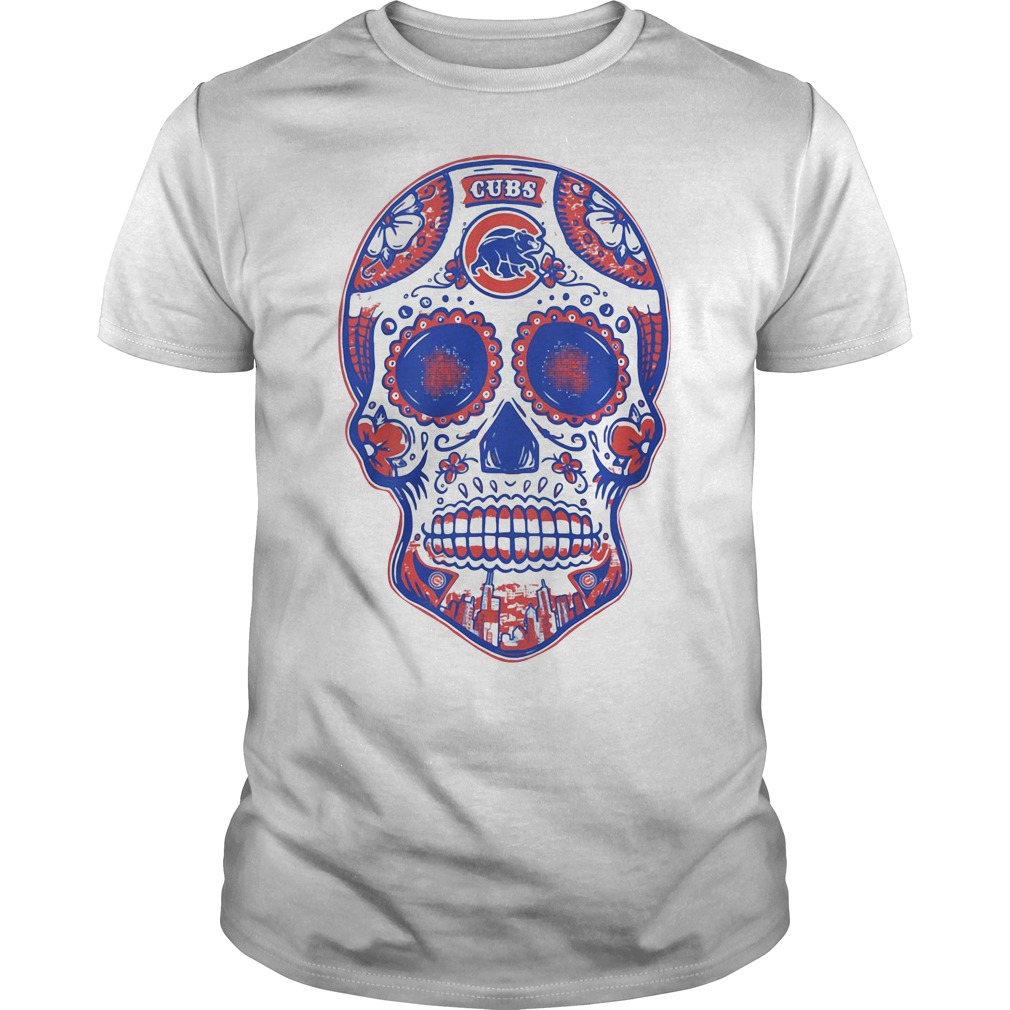 Chicago Cubs skull Guys shirt