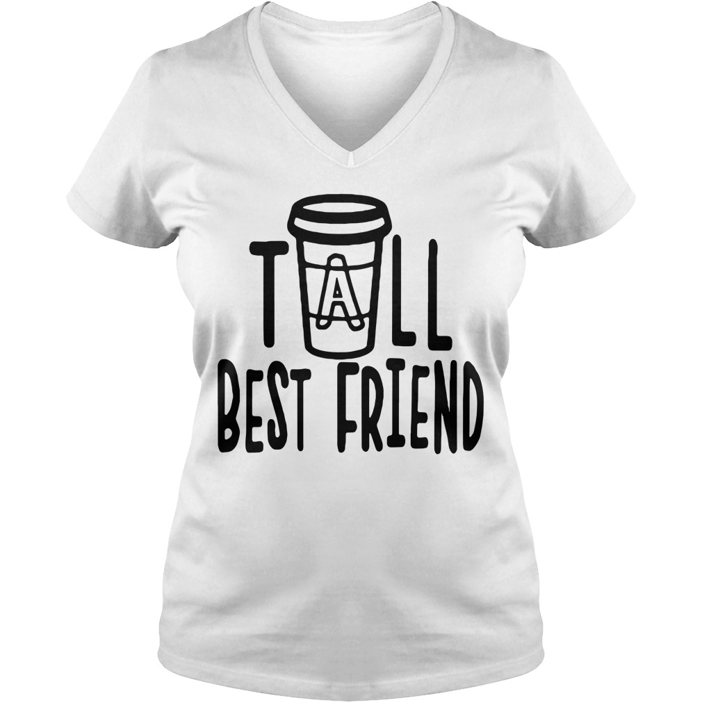 Coffee tall best friend V-neck T-shirt