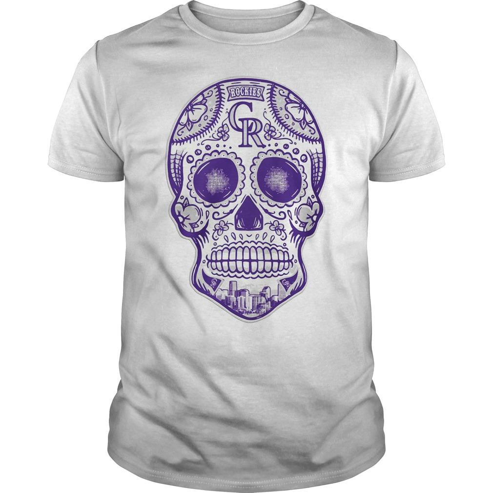 Colorado Rockies skull Guys shirt