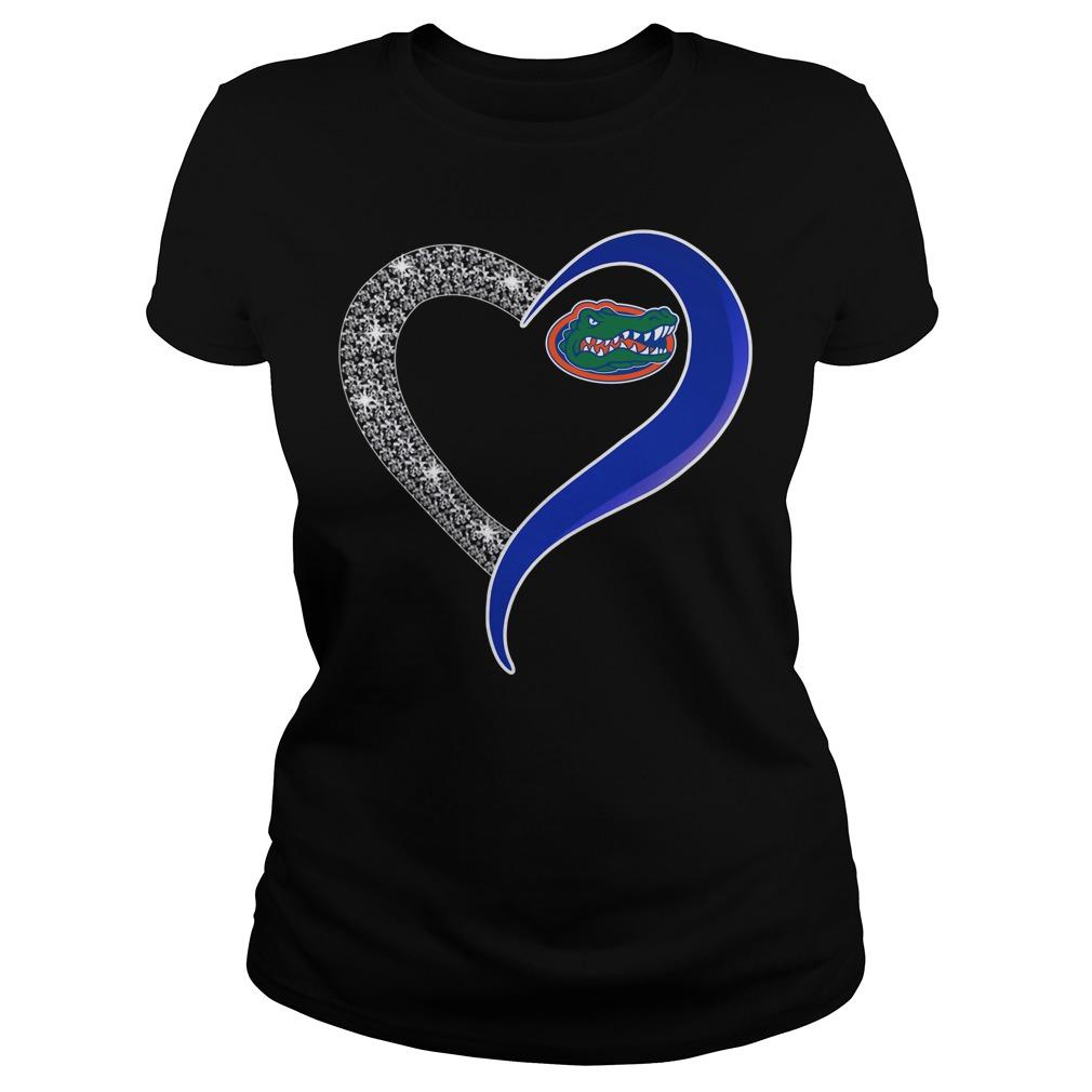 Diamond Florida Gators love Ladies tee