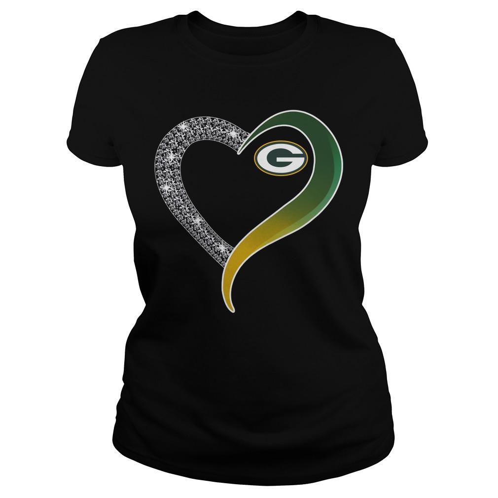 Diamond Green Bay Packers love Ladies tee