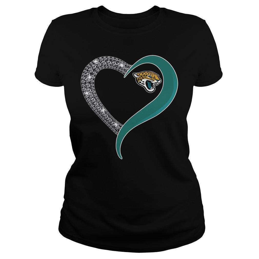 Diamond Jacksonville Jaguars love Ladies tee