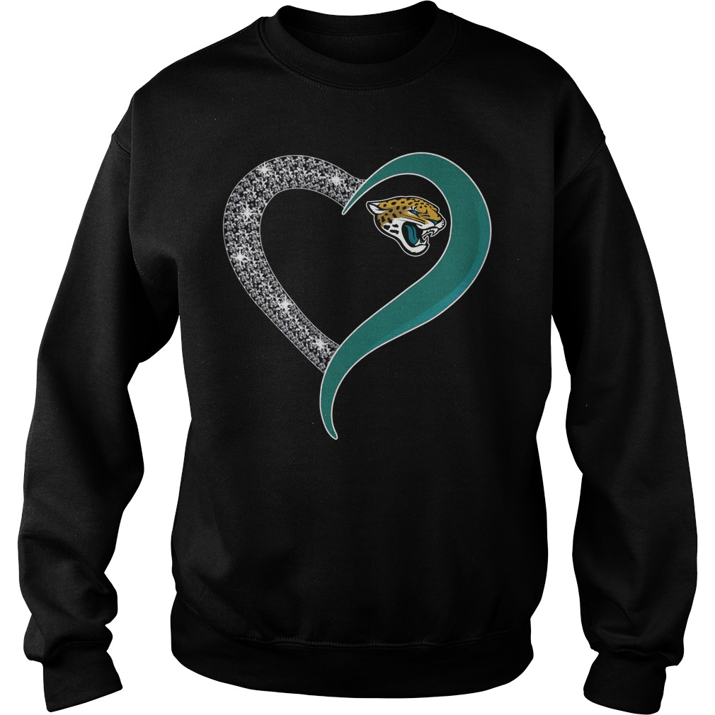 Diamond Jacksonville Jaguars love Sweater