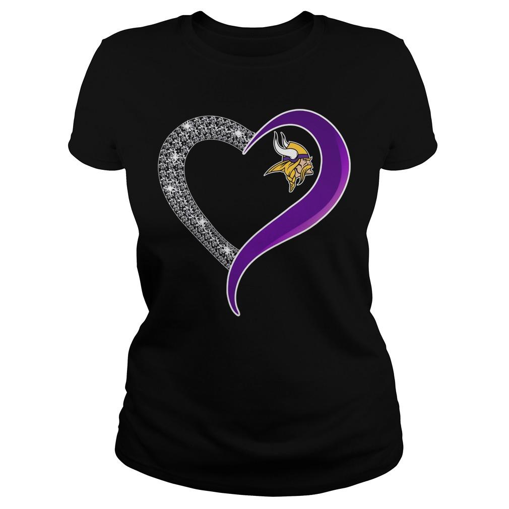 Diamond Minnesota Vikings love Ladies tee