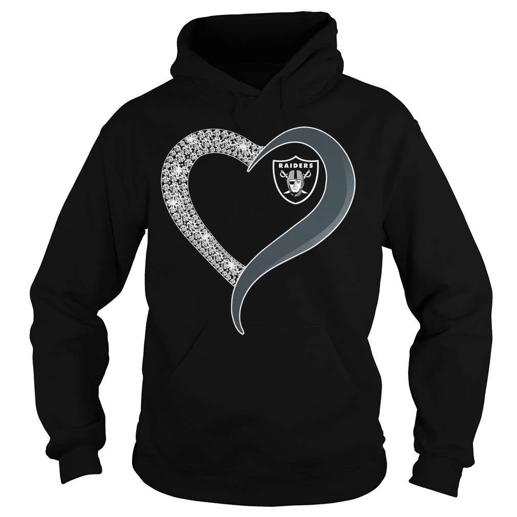 Diamond Oakland Raiders love Hoodie