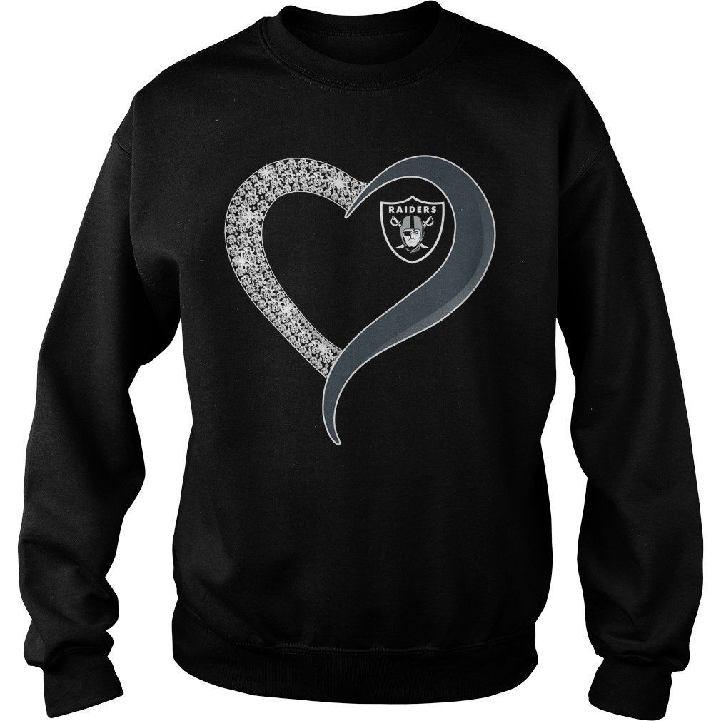 Diamond Oakland Raiders love Sweater