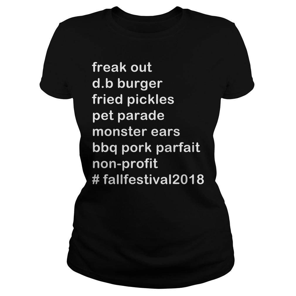 Freak out d.b. burger fried pickles pet parade monster Ladies tee