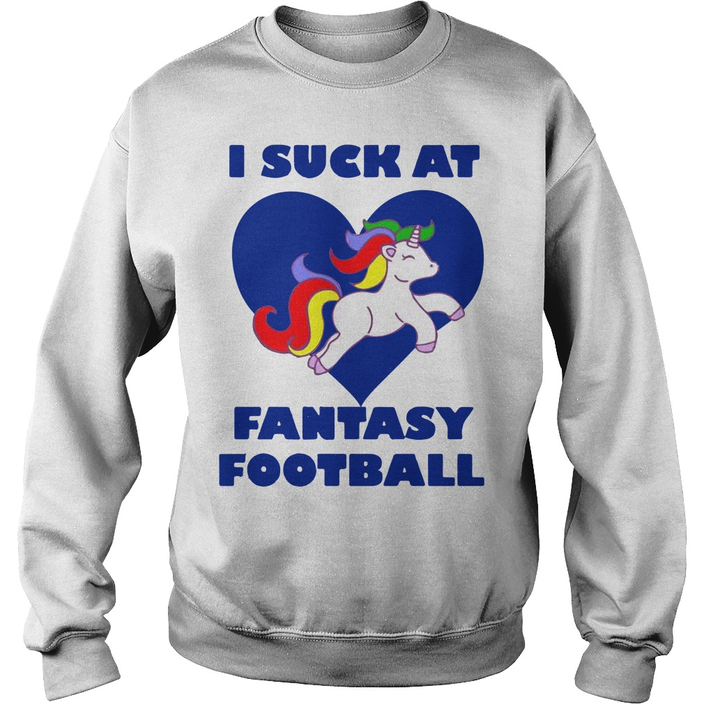 Funny Draft Party Unicorn I suck at fantasy football Sweater