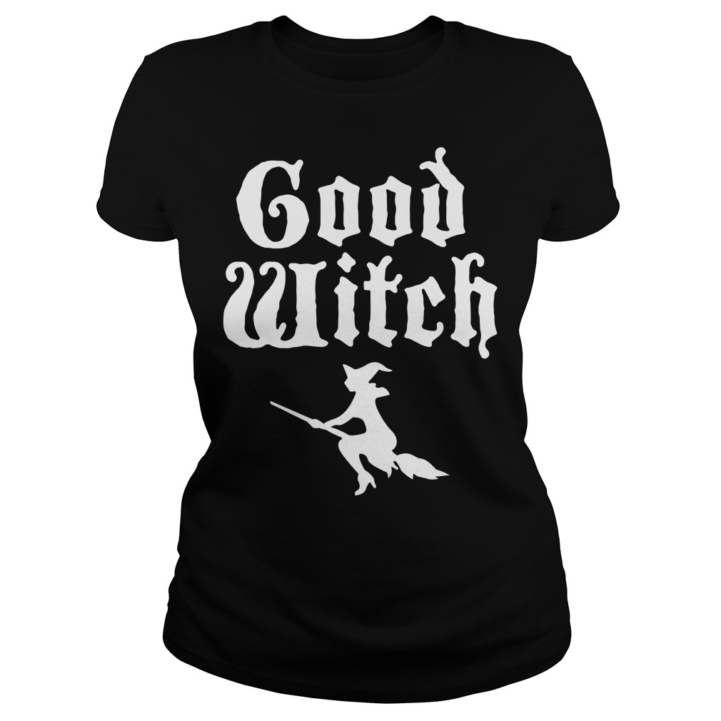 Funny Halloween Good Witch Ladies tee