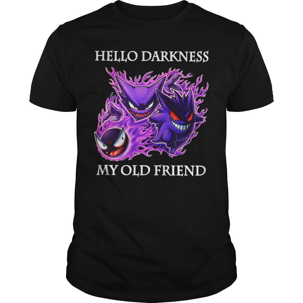 Gengar Evolution Hello darkness my old friend Guys shirt