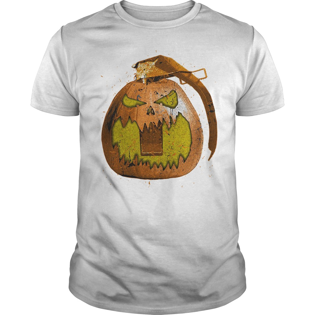 Grenade pumpkin halloween Guys shirt