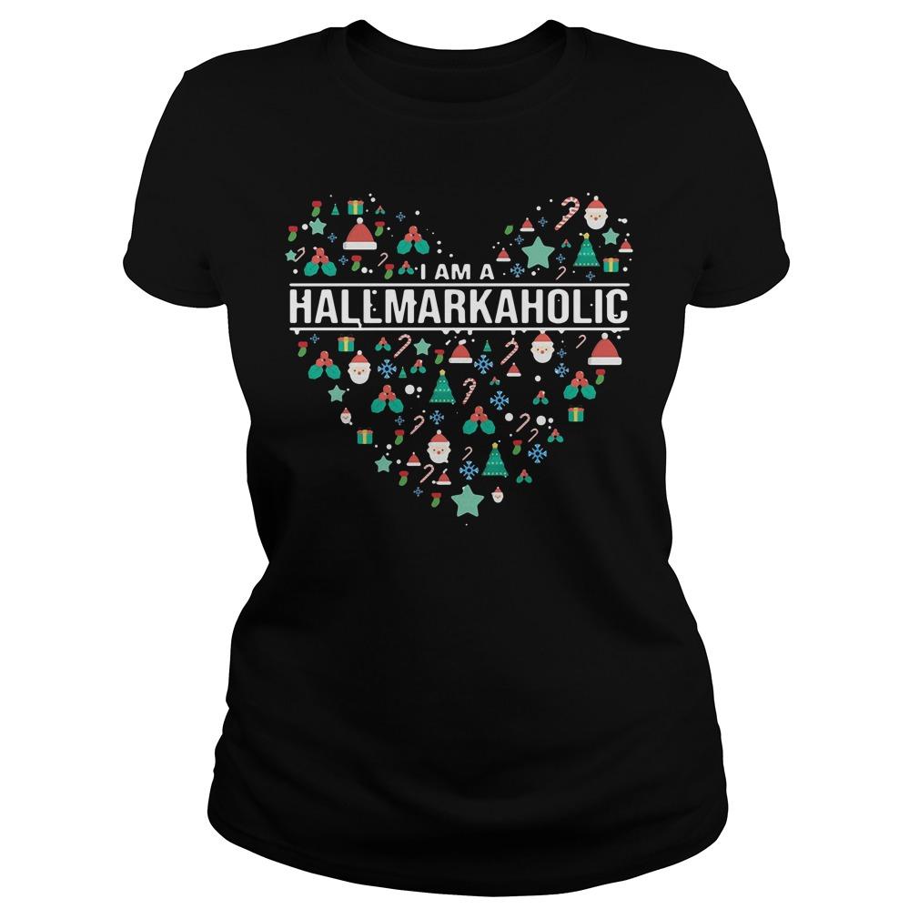 I am a Hallmark Aholic Hallmark Ladies tee