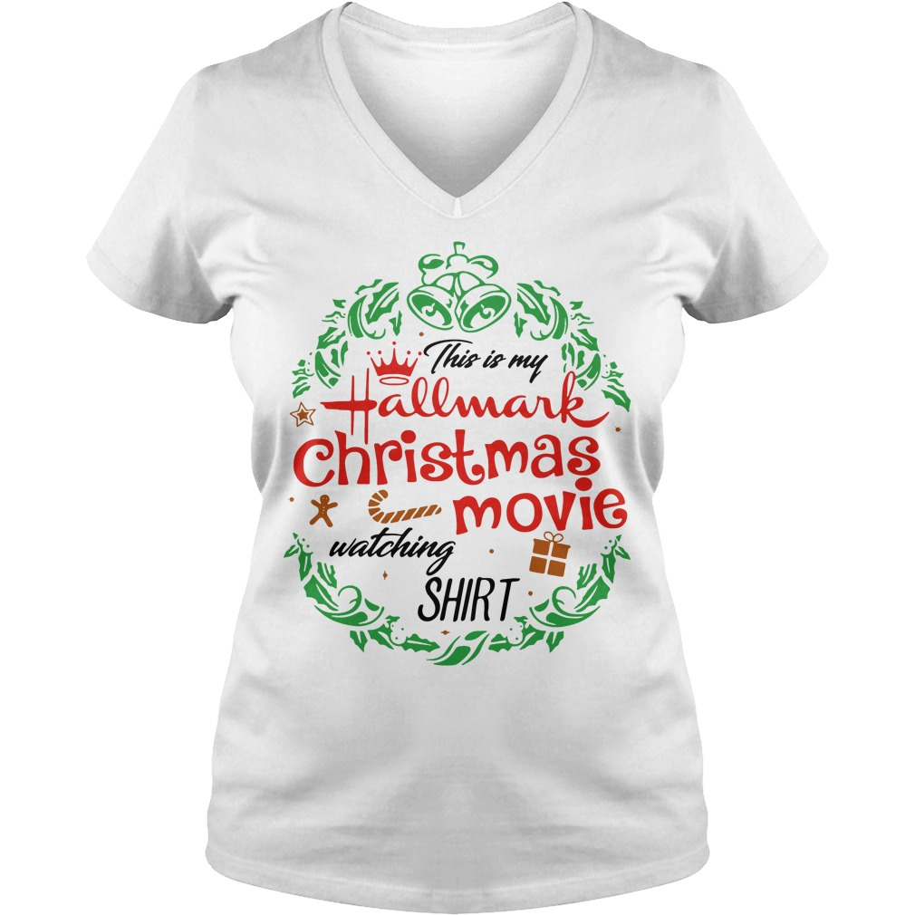 This is my hallmark christmas movie watching mug V-neck T-shirt