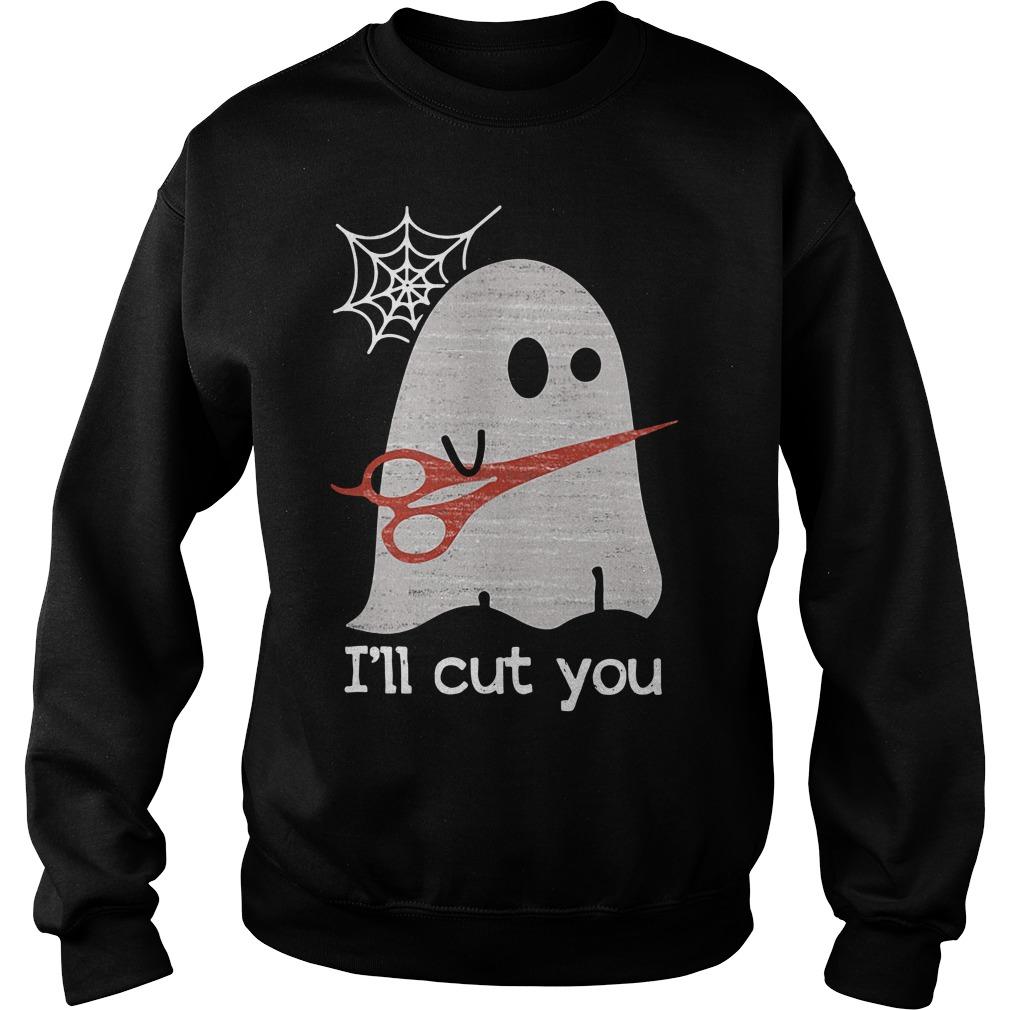 Halloween ghost I'll cut you Sweater