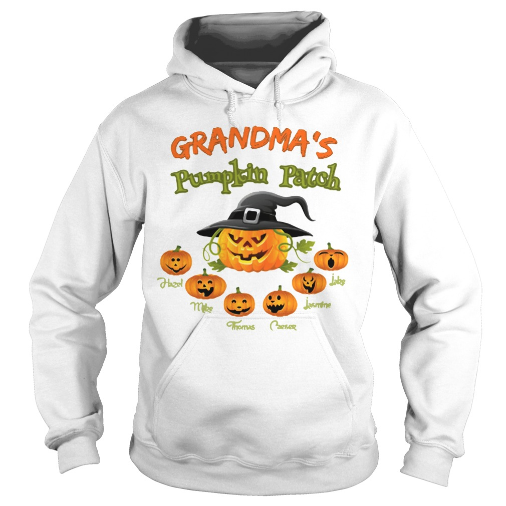 Halloween Grandma's pumpkin patch Hazel Mike Thomas Hoodie