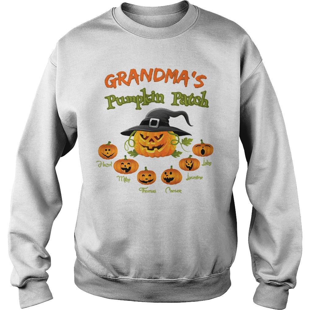 Halloween Grandma's pumpkin patch Hazel Mike Thomas Sweater