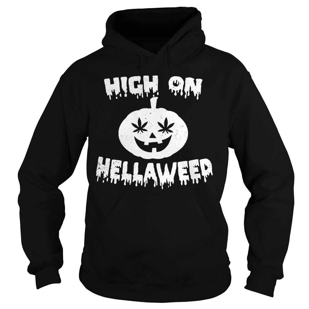 Halloween high on Hella Weed Hoodie