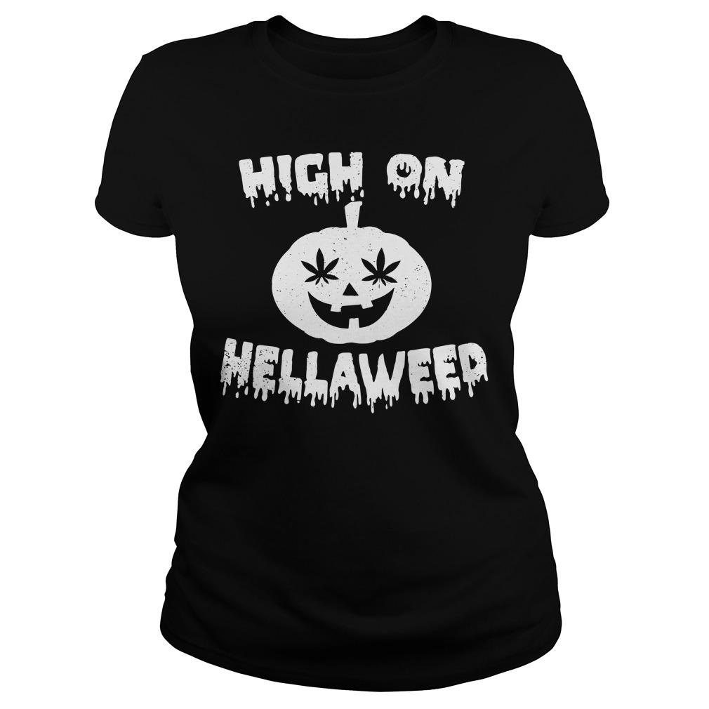 Halloween high on Hella Weed Ladies tee
