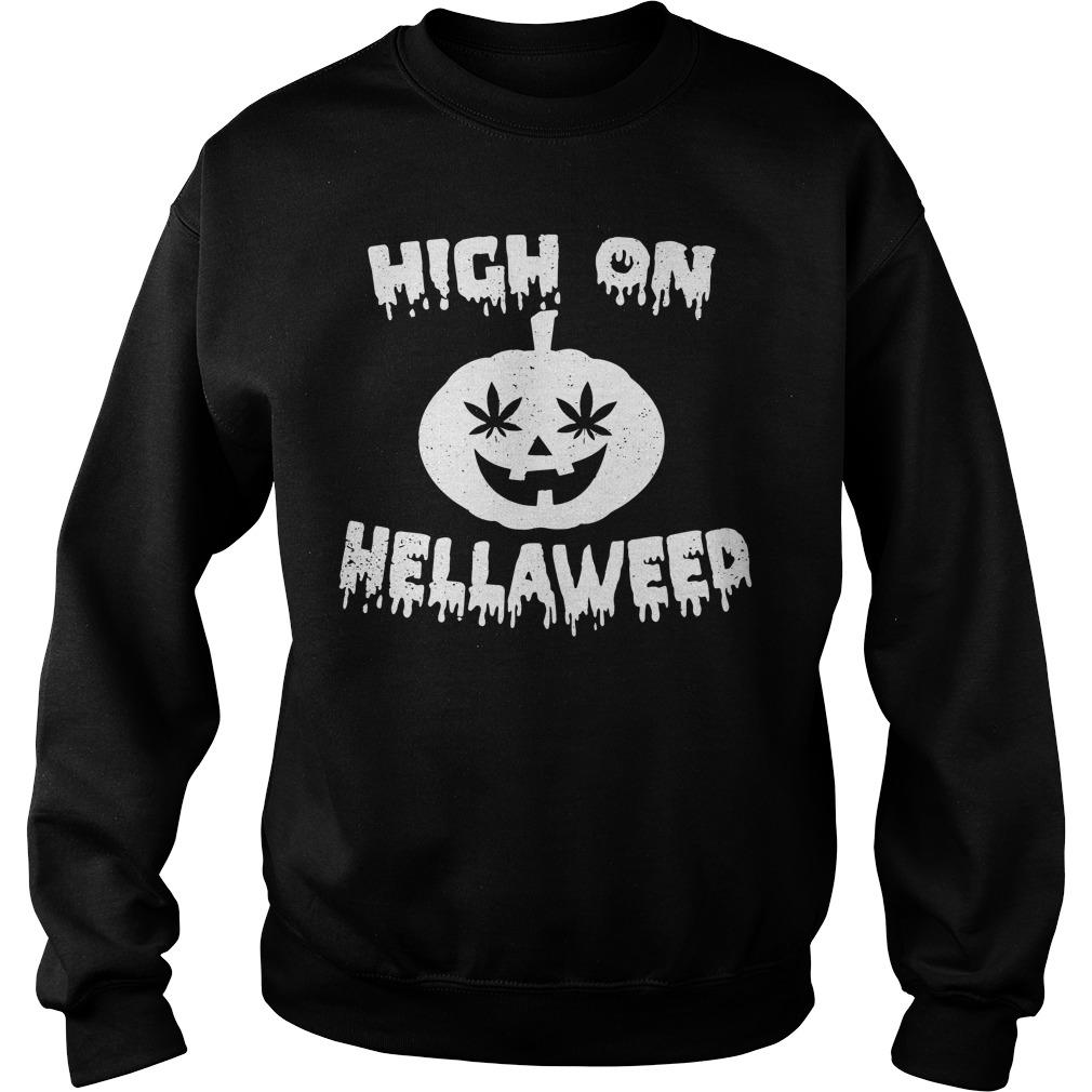 Halloween high on Hella Weed Sweater