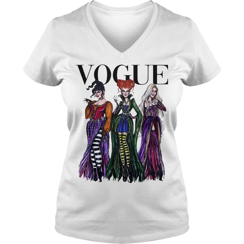 Halloween Hocus Pocus Vogue V-neck T-shirt