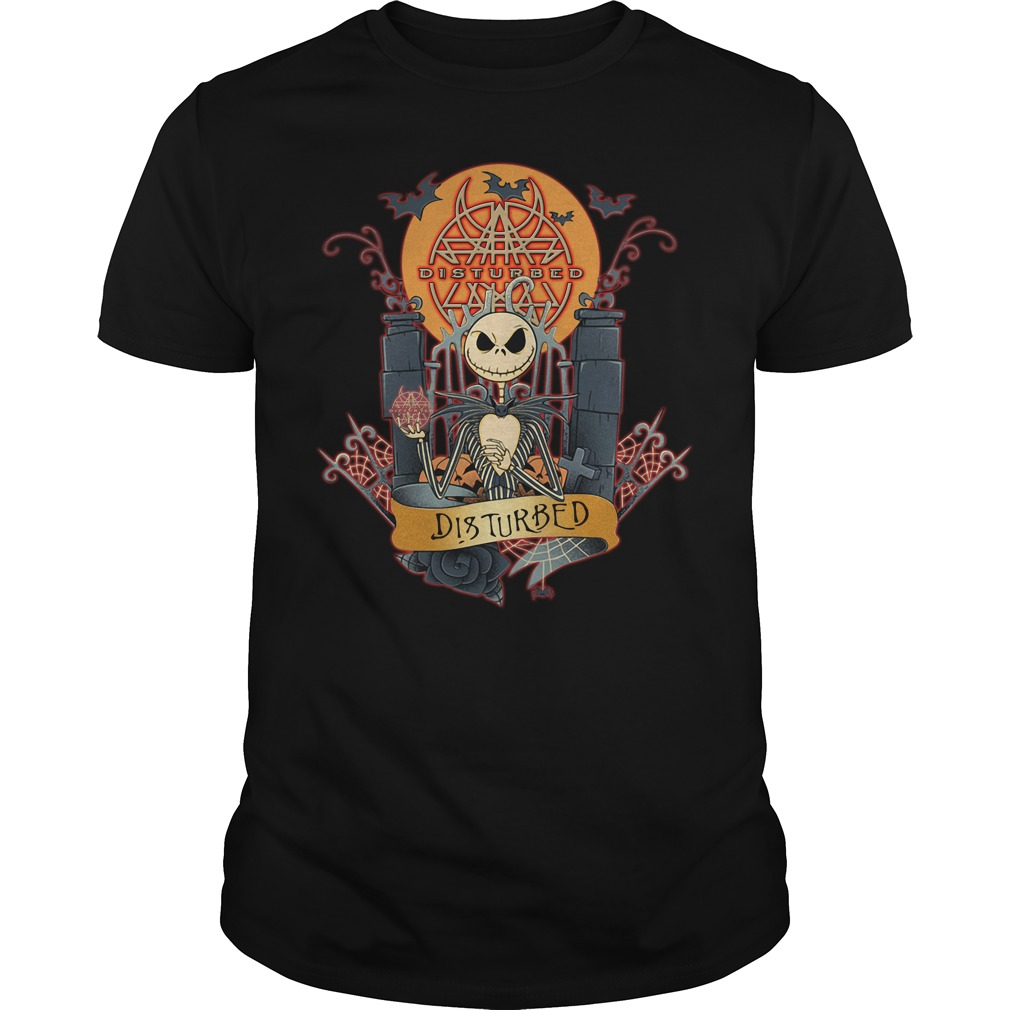 Halloween Jack Skellington Disturbed Guys shirt