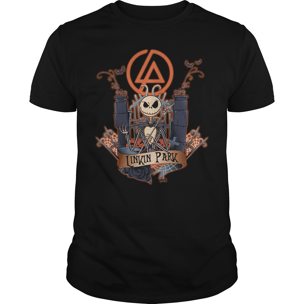 Halloween Jack Skellington Linkin Park Guys shirt