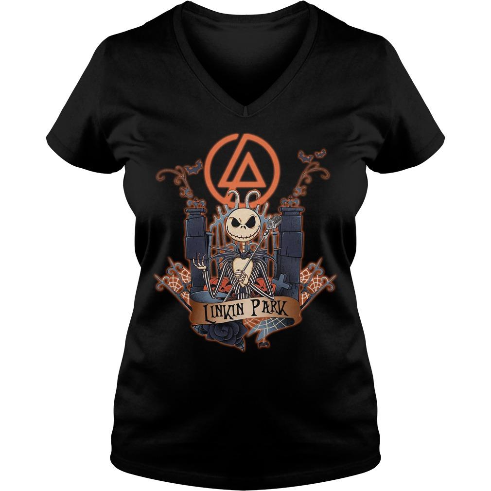 Halloween Jack Skellington Linkin Park V-neck T-shirt