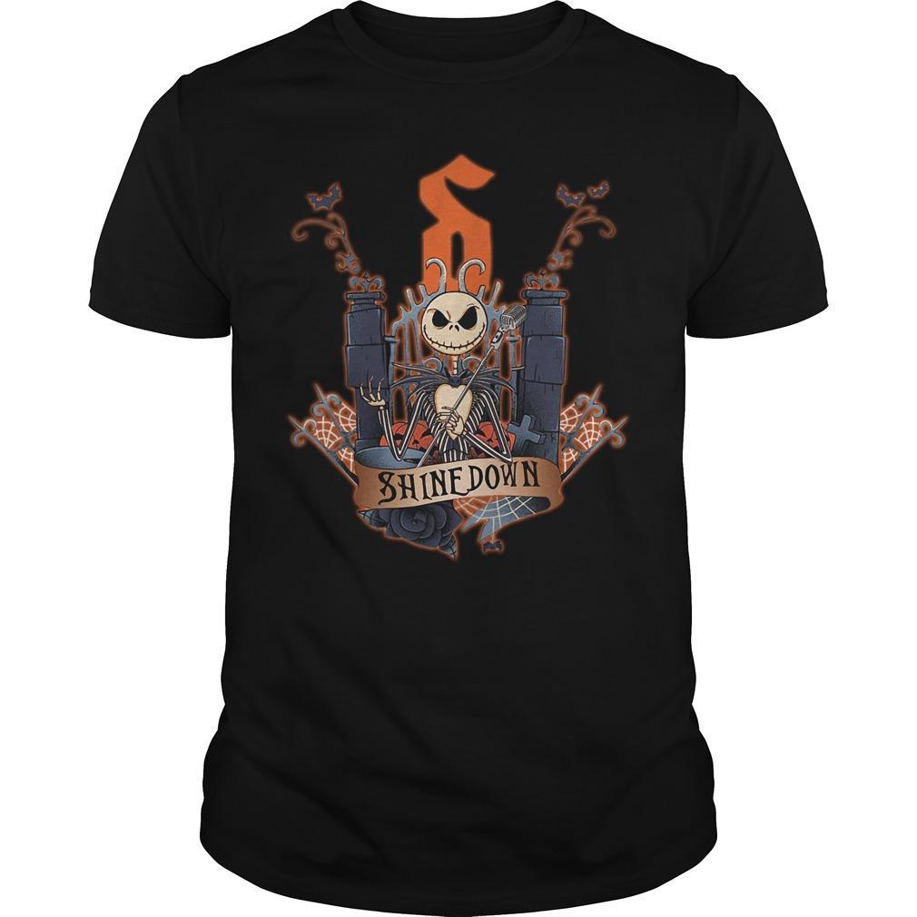 Halloween Jack Skellington Shinedown Guys shirt