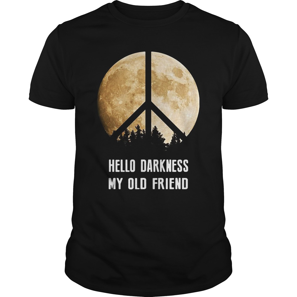 Hippie moon hello darkness my old friend Guys shirt