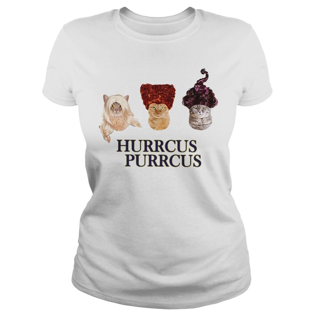 Hocus Pocus cat Hurrcus purrcus Ladies tee