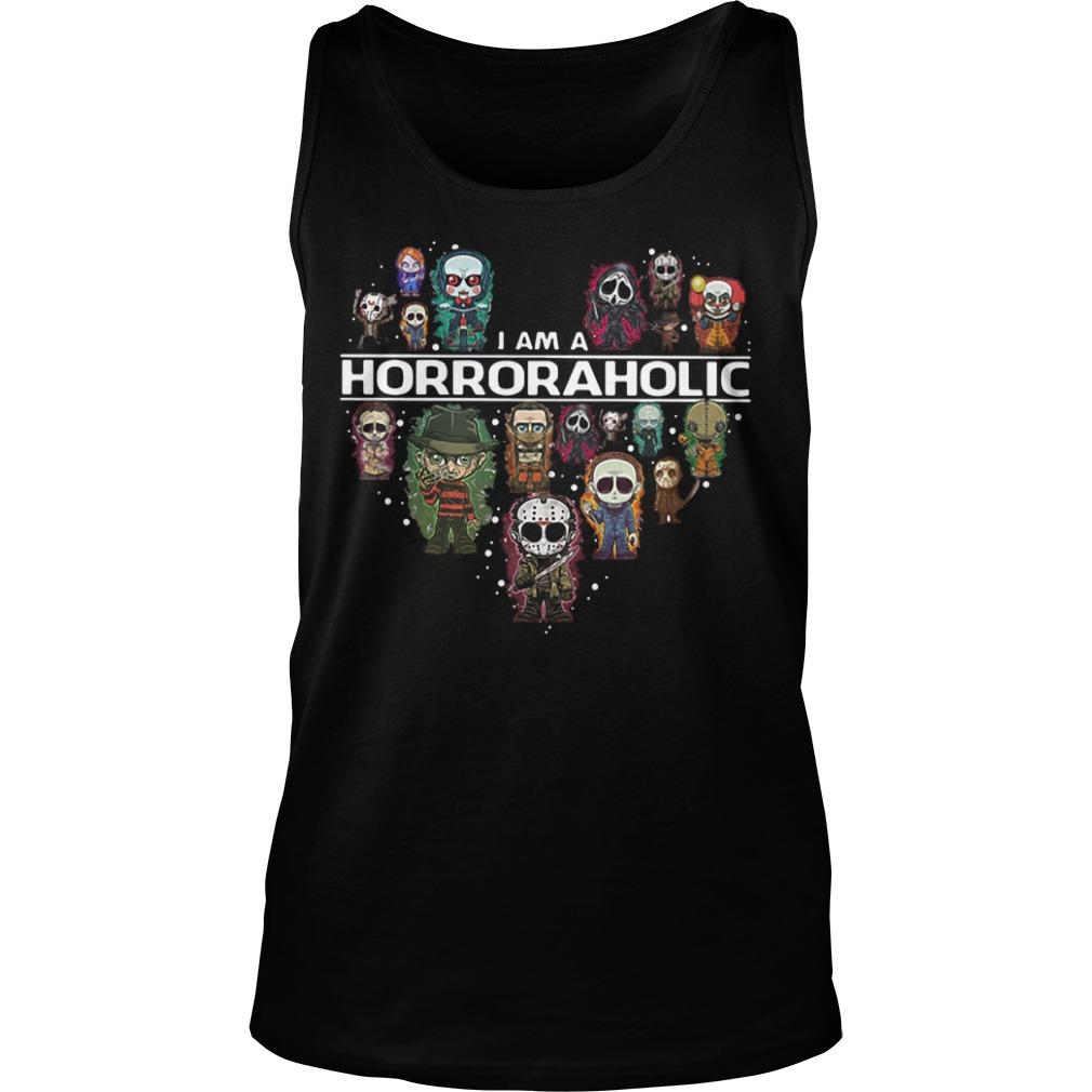 I am a horror aholic Halloween Tank top