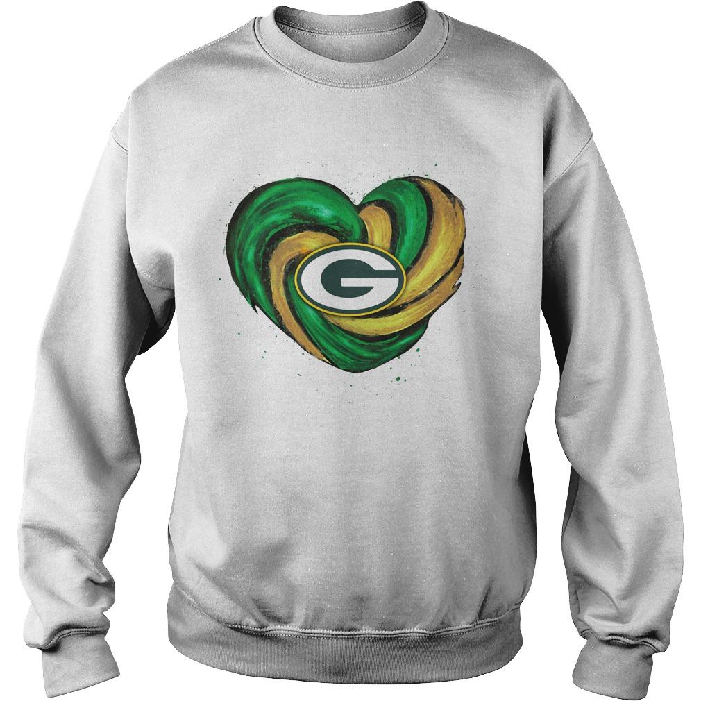 Hurricane Green Bay Packers heart Sweater