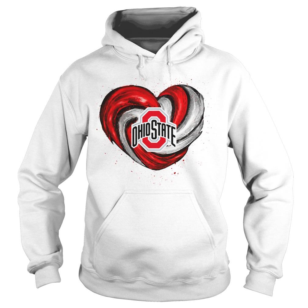 Hurricane Ohio State Buckeyes heart Hoodie