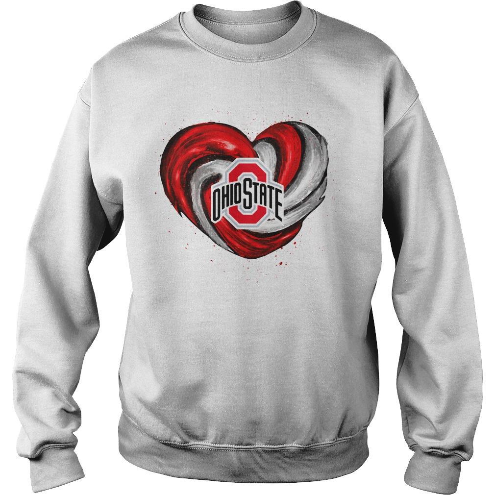 Hurricane Ohio State Buckeyes heart Sweater