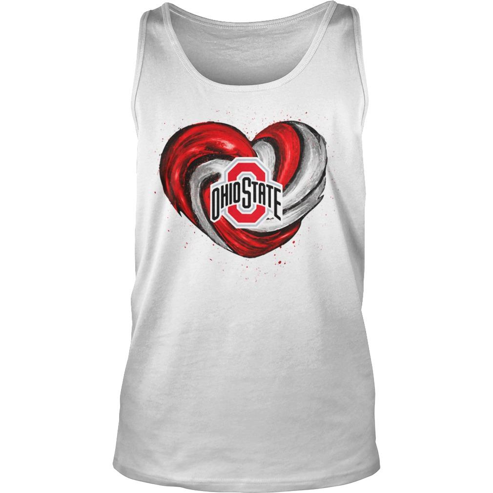Hurricane Ohio State Buckeyes heart Tank top