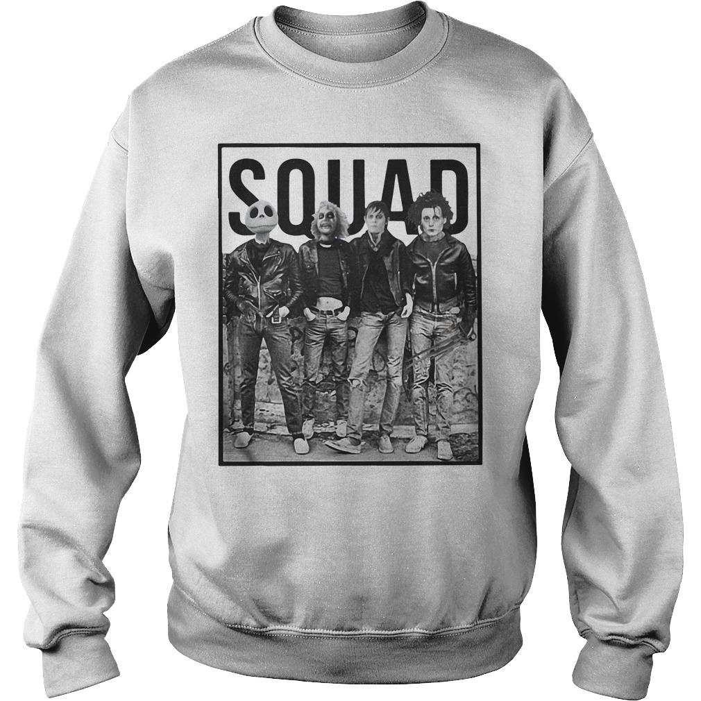 Jack Skellington, Beetlejuice, Edward Scissorhands and Robert Cobert squad Sweater