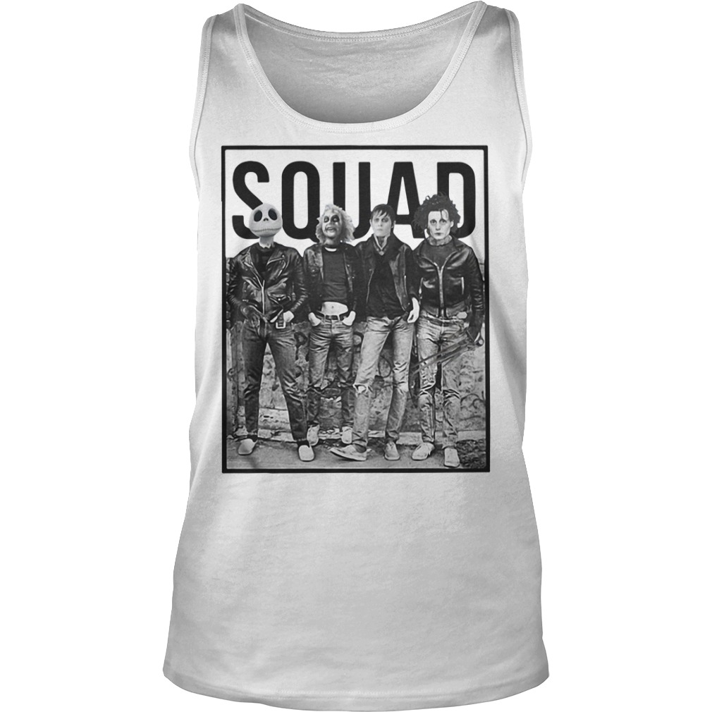 Jack Skellington, Beetlejuice, Edward Scissorhands and Robert Cobert squad Tank top