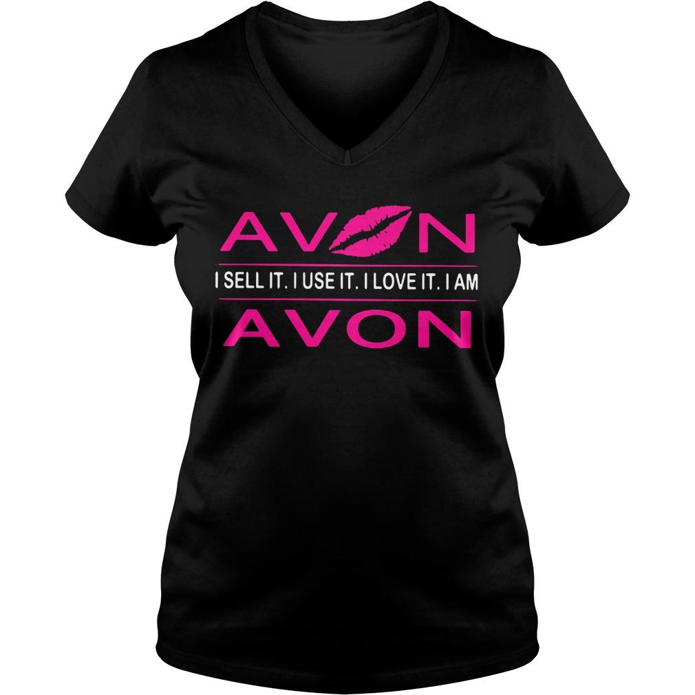 Lip avon I sell it I use it I love it I am V-neck T-shirt