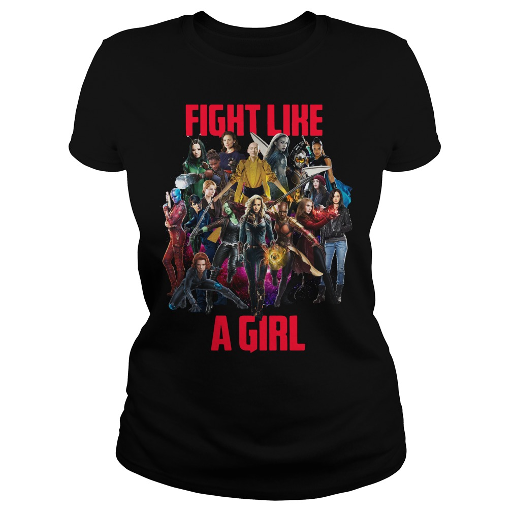 Marvel Girl fight like a girl Ladies tee