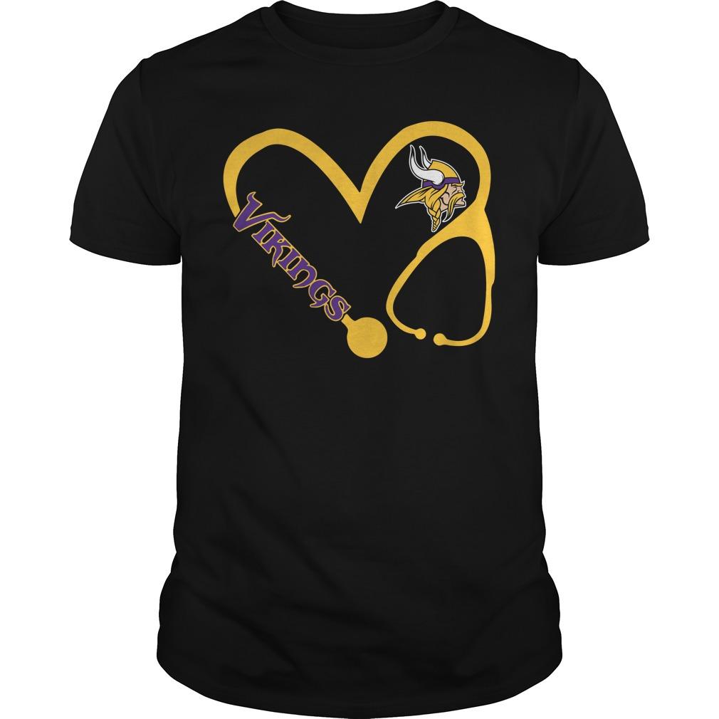 Minnesota Vikings love nurse Vikings Guys shirt