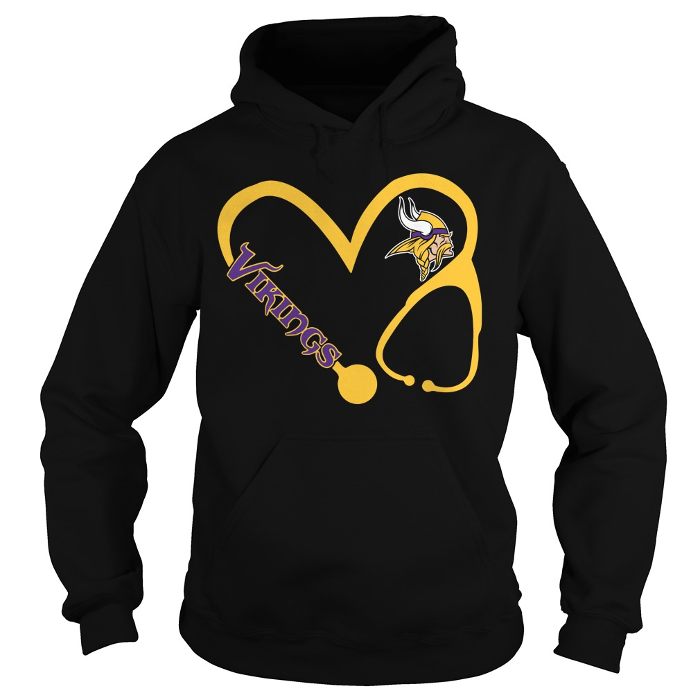 Minnesota Vikings love nurse Vikings Hoodie