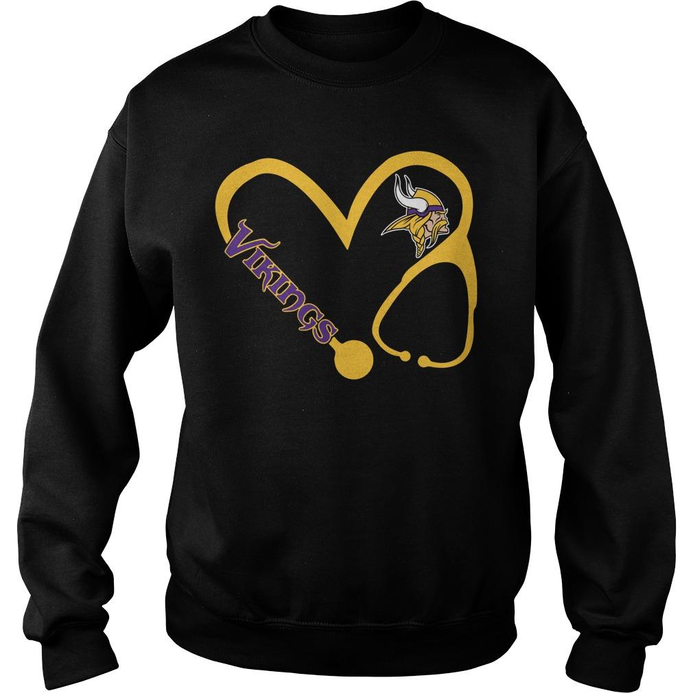 Minnesota Vikings love nurse Vikings Sweater