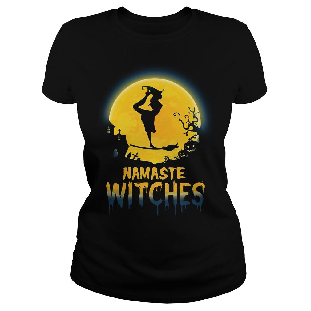 Namaste Witches Halloween Ladies tee