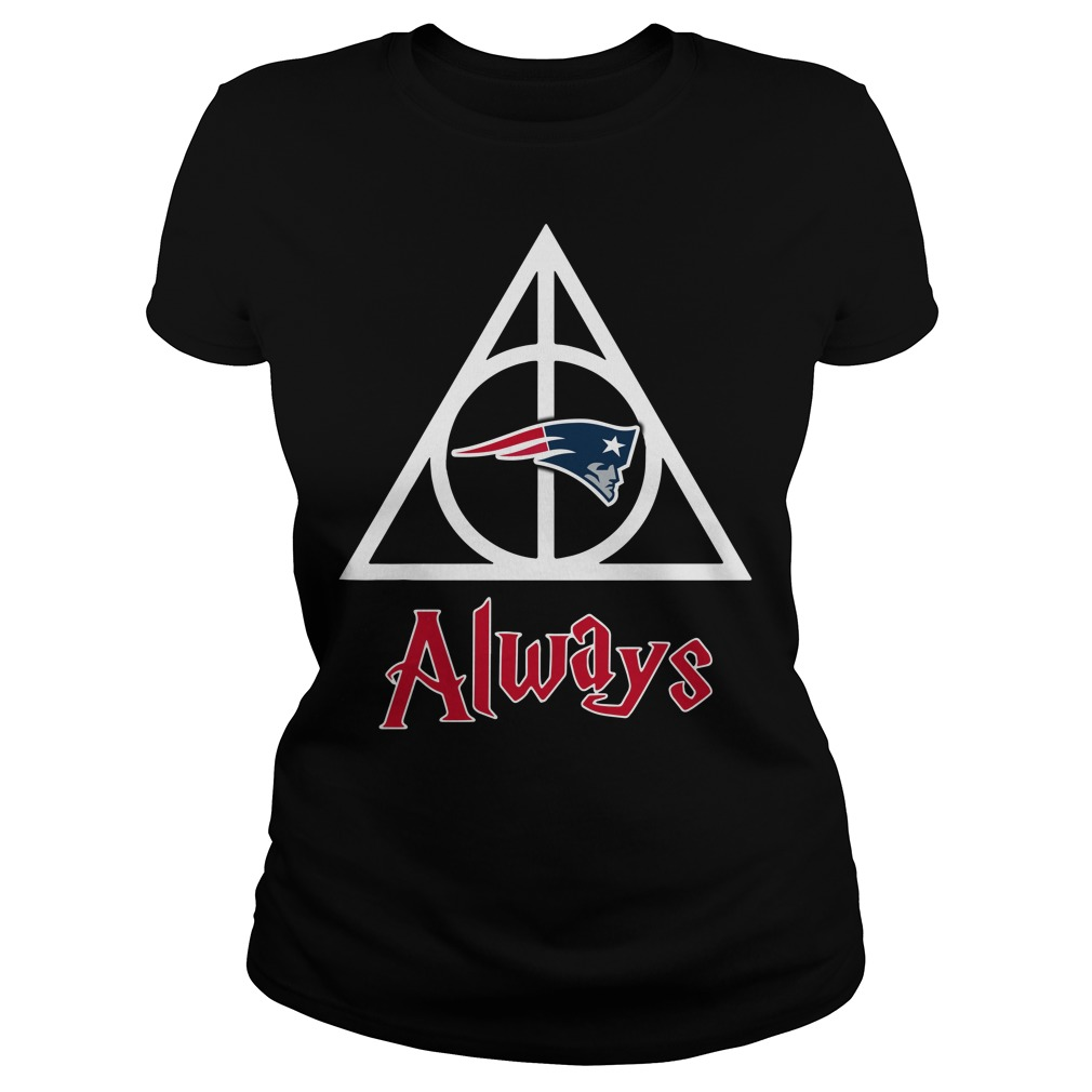 New England Patriots Deathly Hallows Always Ladies tee