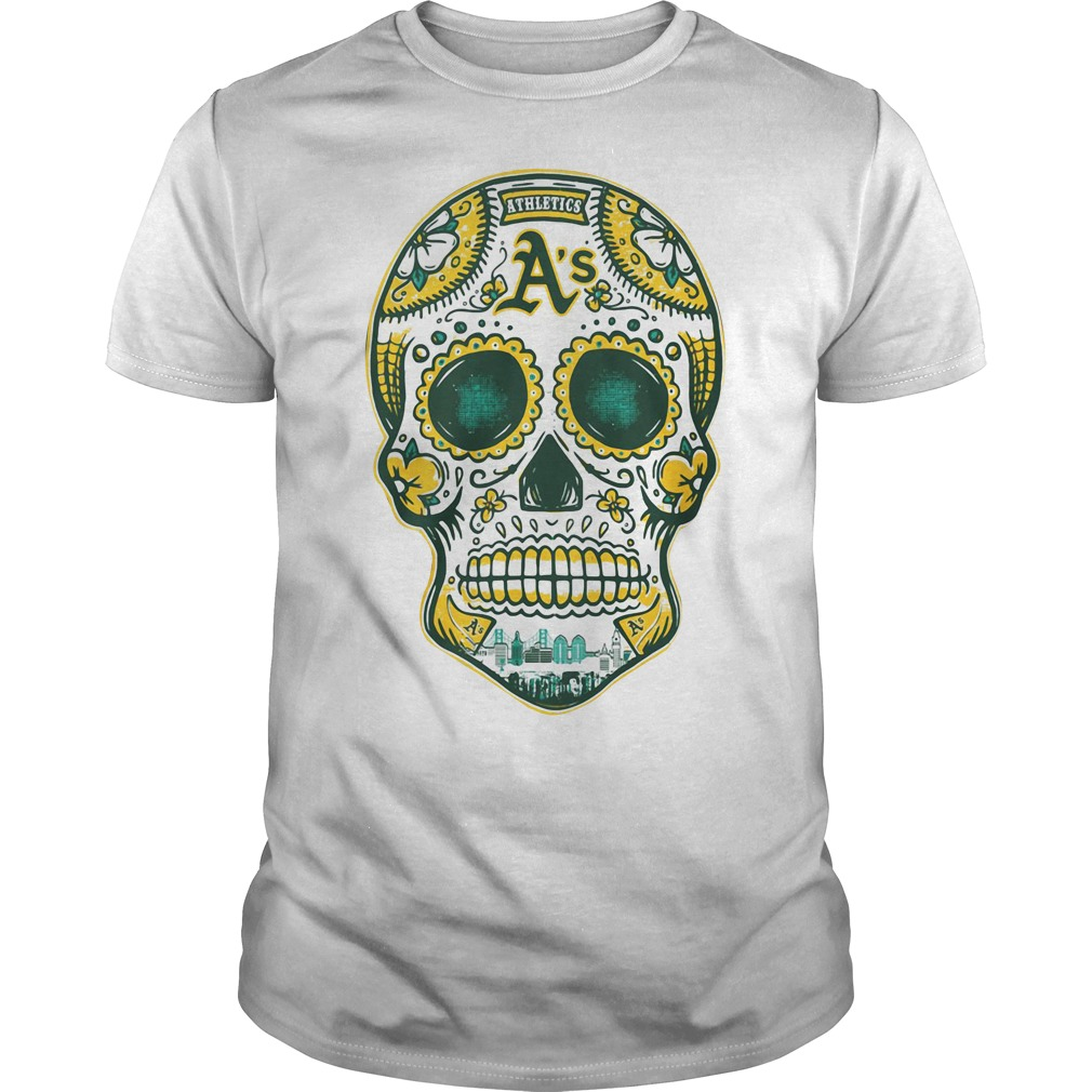 Oakland Athletics skull Guys shirt