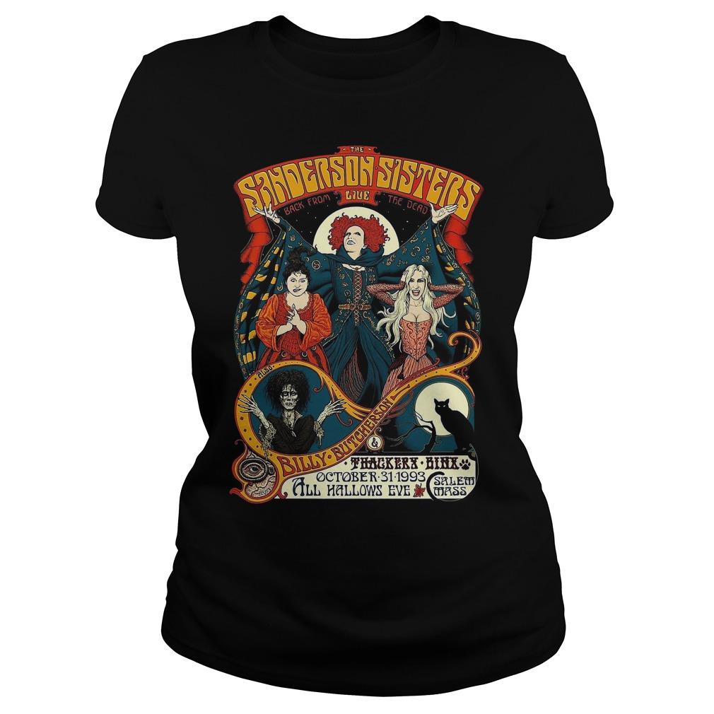 Sanderson Sisters Vintage Tour Poster Ladies tee