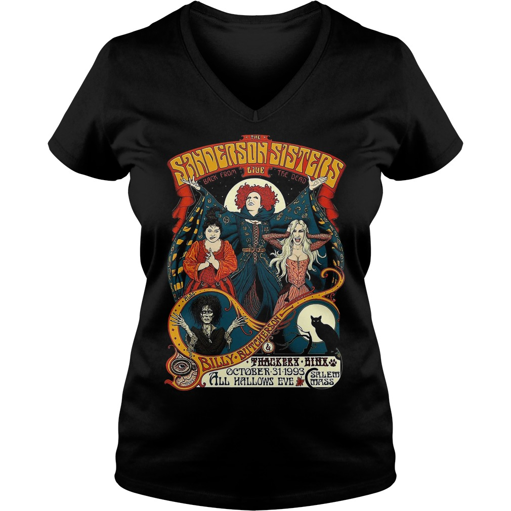 Sanderson Sisters Vintage Tour Poster V-neck T-shirt