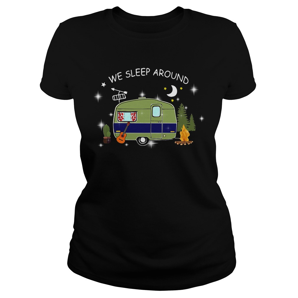 We sleep around camping Ladies tee